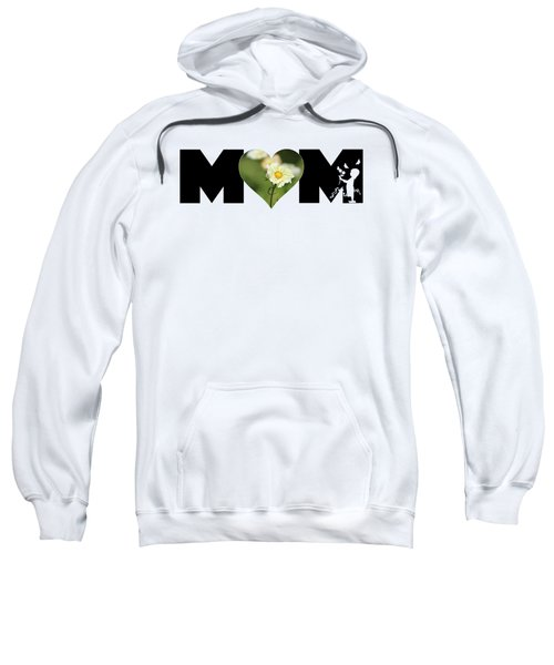 White Cosmos In Heart With Little Girl Mom Big Letter Sweatshirt