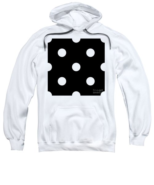 White Dots On A Black Background- Ddh612 Sweatshirt