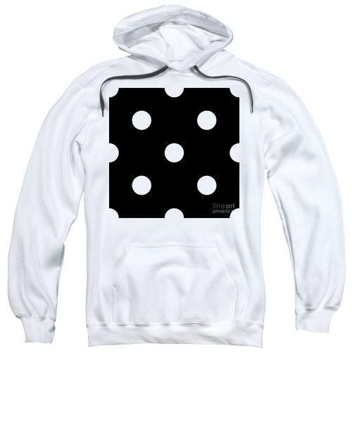 White Dots On A Black Background- Ddh612 Sweatshirt
