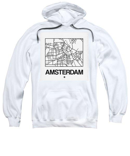 White Map Of Amsterdam Sweatshirt