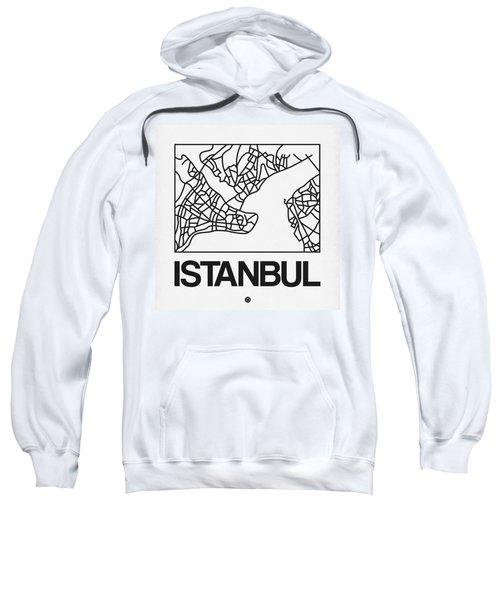 White Map Of Istanbul Sweatshirt