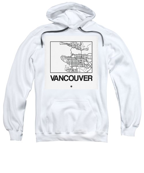 White Map Of Vancouver Sweatshirt