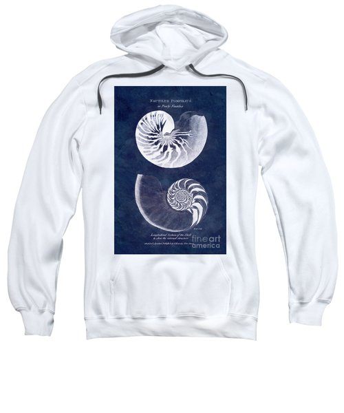 White Nautilus On Blue Sweatshirt