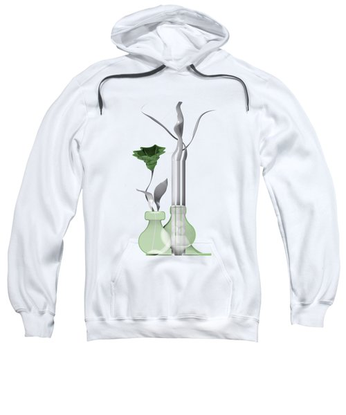 White Soft Stil Life With One Flower. Sweatshirt