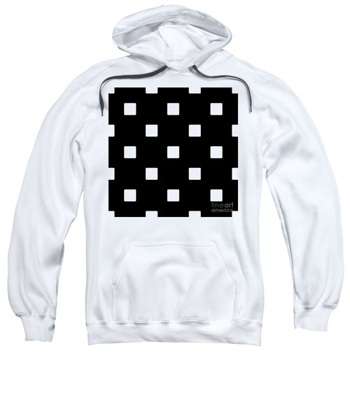 White Squares On A Black Background- Ddh576 Sweatshirt