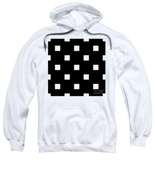 White Squares On A Black Background- Ddh576 Sweatshirt