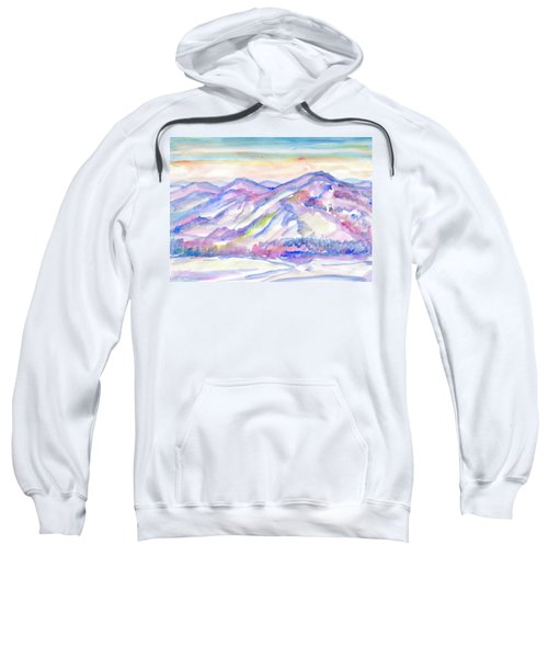 Winter Mountain Landscape Sweatshirt