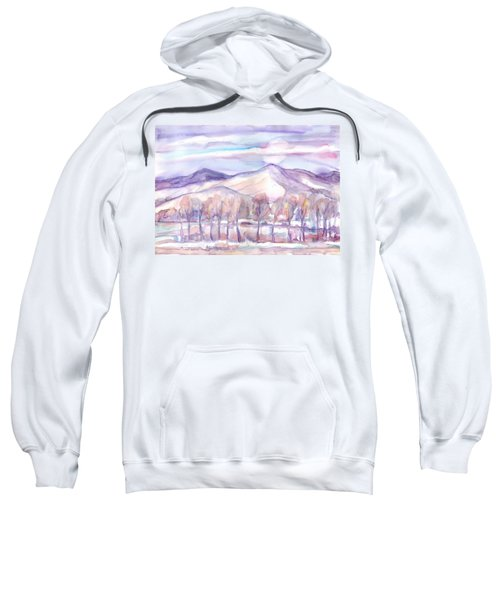 Winter Sunrise On A Frosty River Sweatshirt