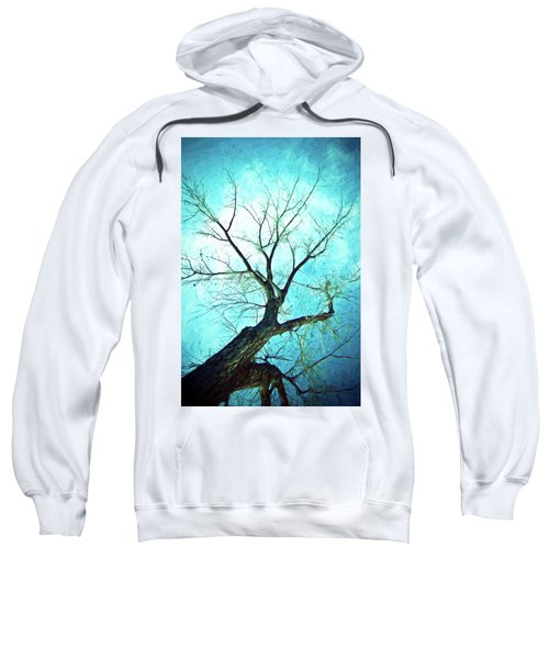Sweatshirt featuring the photograph Winter Tree Blue  by James BO Insogna