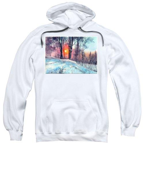 Winter Woodland In The Sun Sweatshirt