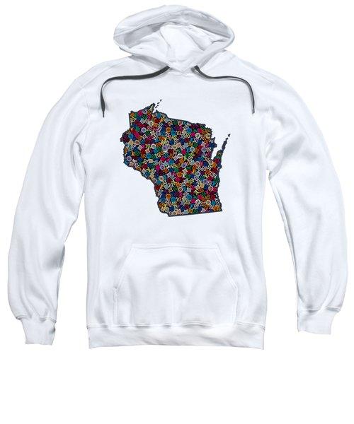 Wisconsin Map - 1 Sweatshirt