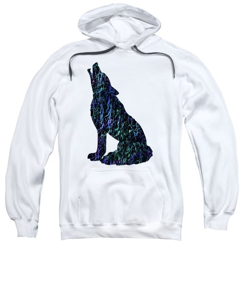 Wolf Watercolor Painting Sweatshirt