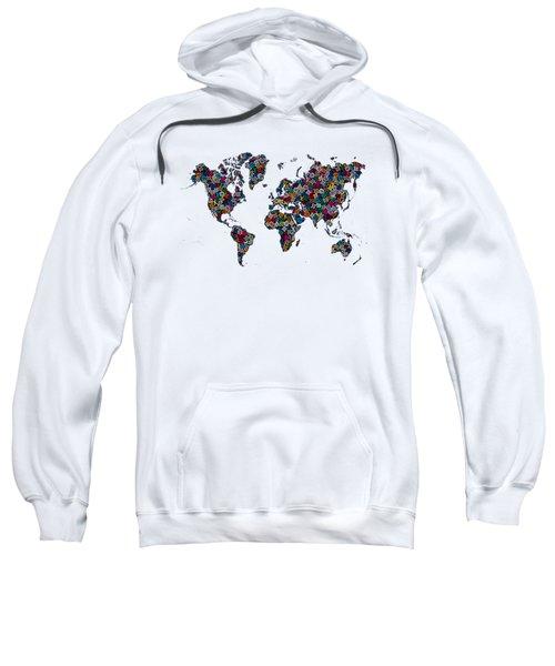 World Map-1 Sweatshirt