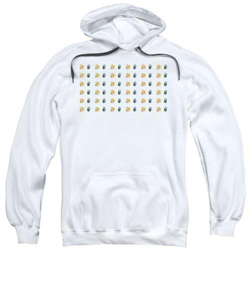 Yellow And Green Present Pattern Sweatshirt