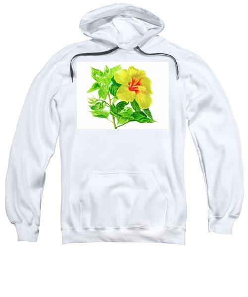 Yellow Hibiscus Flower Sweatshirt