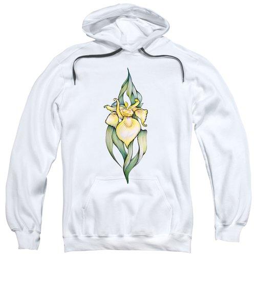 Yellow Iris Flower Sweatshirt