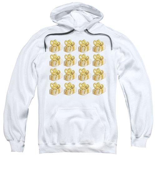Yellow Presents Pattern Sweatshirt