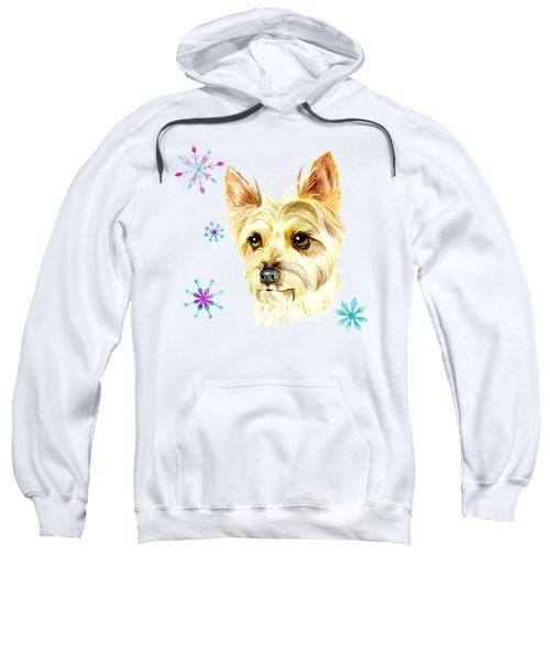 Yorkie Dog And Snowflakes Sweatshirt