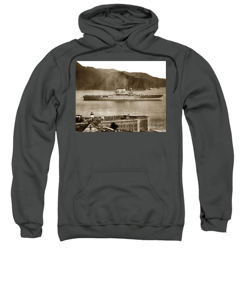 U. S. S. Lexington Cv-2 Fort Point Golden Gate San Francisco Bay California 1928 Sweatshirt