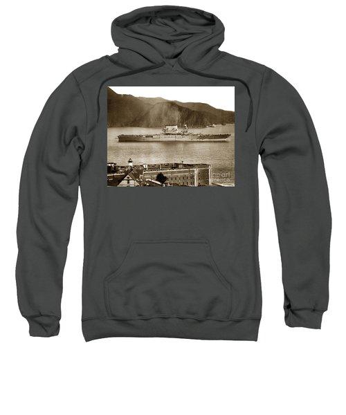 U. S. S. Lexington Cv-2 Fort Point Golden Gate San Francisco Bay California 1928 Sweatshirt