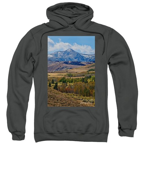Sweatshirt featuring the photograph  Sierras Mountains by Mae Wertz