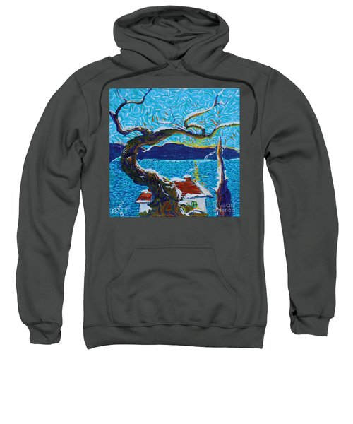 A River's Snow Sweatshirt