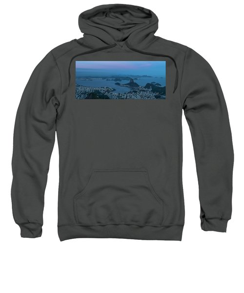 Aerial View Of City From Christ Sweatshirt