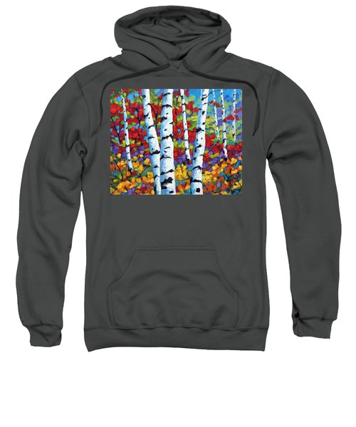 Birches In Abstract By Prankearts Sweatshirt