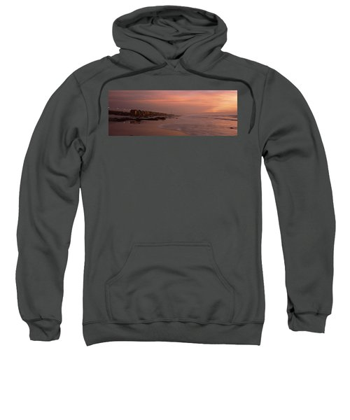 Changing Room Huts On The Beach Sweatshirt