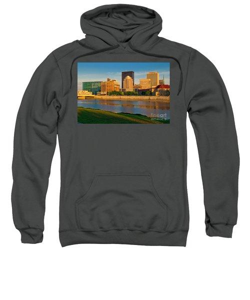 D4u-379 Dayton Skyline Photo Sweatshirt