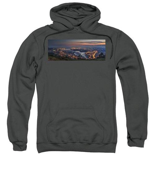 Ferrol's Ria Panorama From Mount Ancos Galicia Spain Sweatshirt