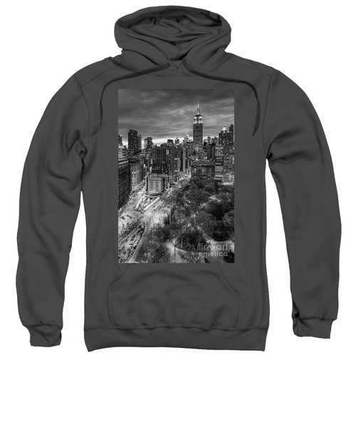 Flatiron District Birds Eye View Sweatshirt by Susan Candelario