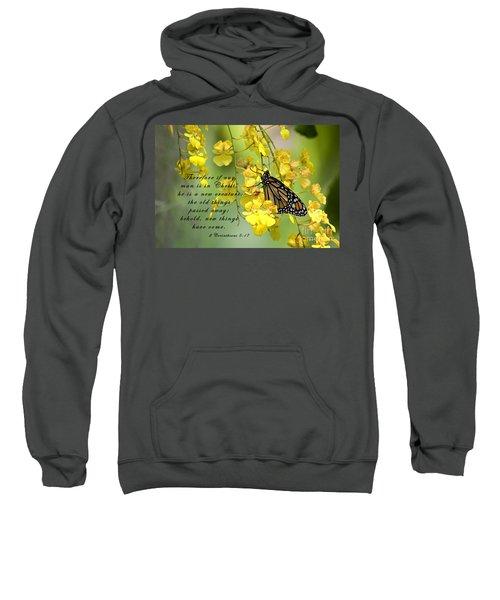 Monarch Butterfly With Scripture Sweatshirt