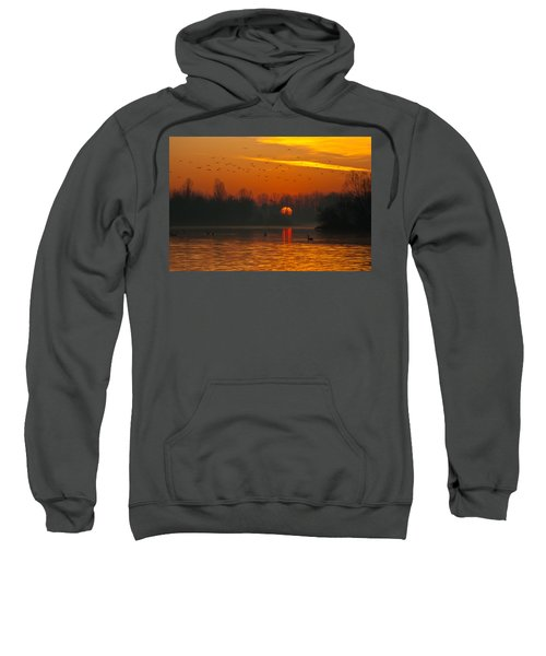 Morning Over River Sweatshirt
