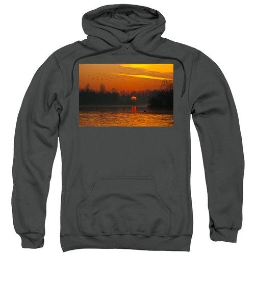Morning Over River Sweatshirt