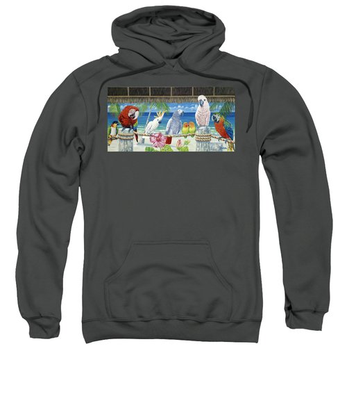 Parrots In Paradise Sweatshirt by Danielle  Perry