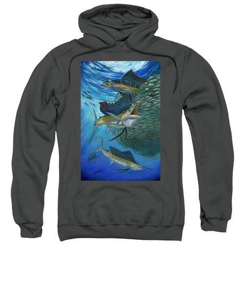 Sailfish With A Ball Of Bait Sweatshirt