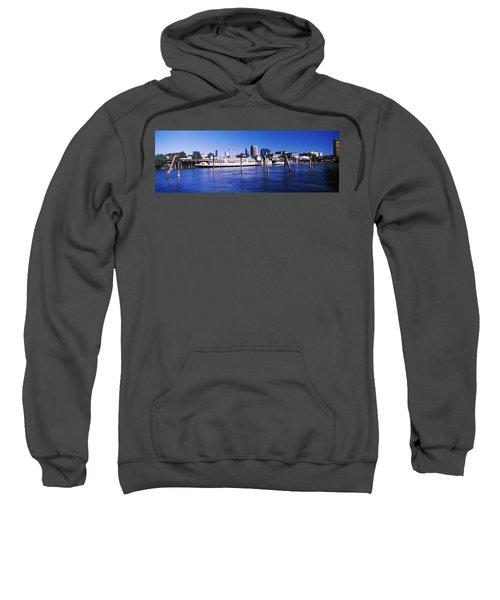 Skyscrapers At The Waterfront, Delta Sweatshirt