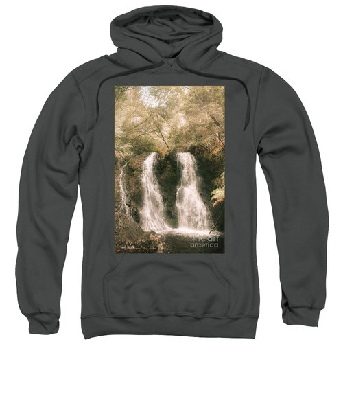 Soft Vintage Forest Waterfall In Tasmania Sweatshirt