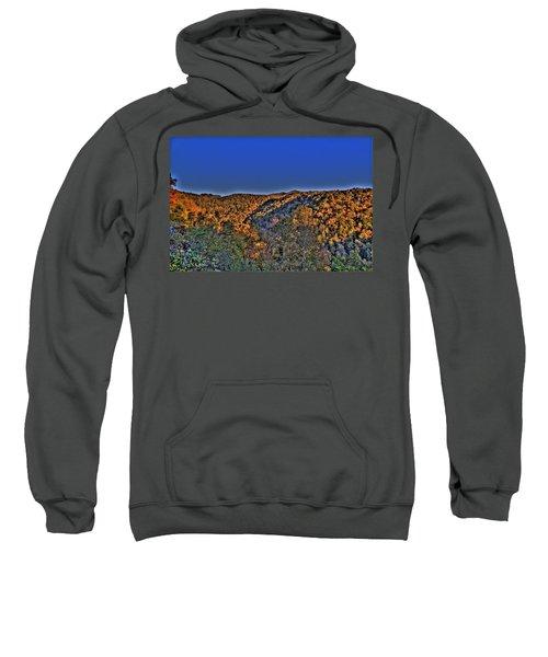 Sweatshirt featuring the photograph Sun On The Hills by Jonny D