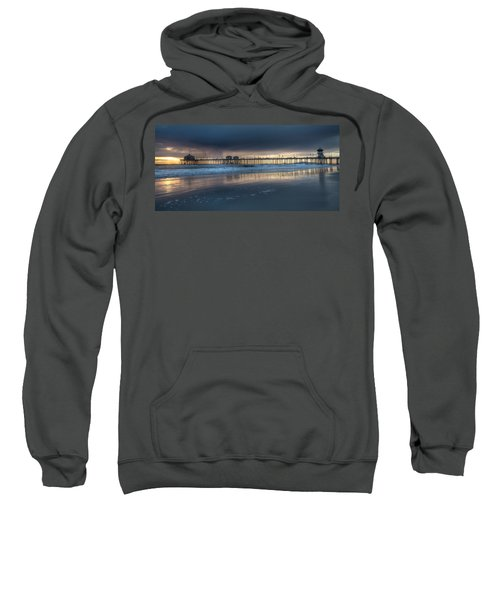 Approaching Storm Huntington Beach Pier Sweatshirt