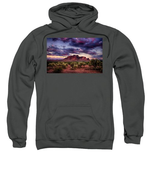 Sunset At The Superstitions  Sweatshirt