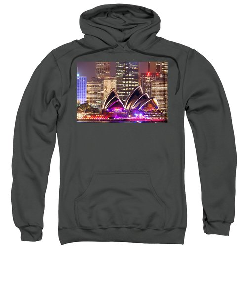 Sydney Skyline At Night With Opera House - Australia Sweatshirt
