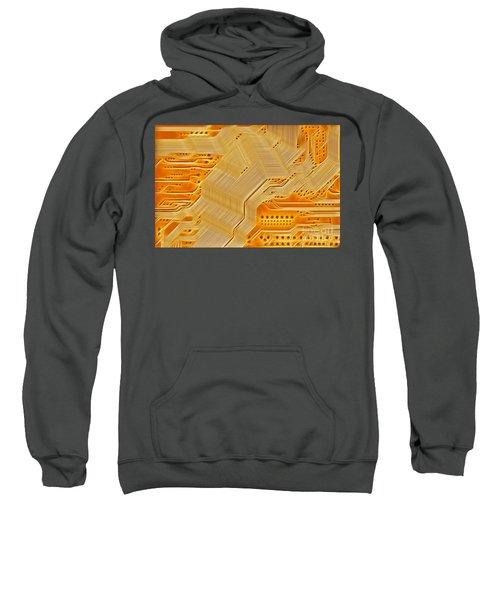 Technology Abstract Background Sweatshirt