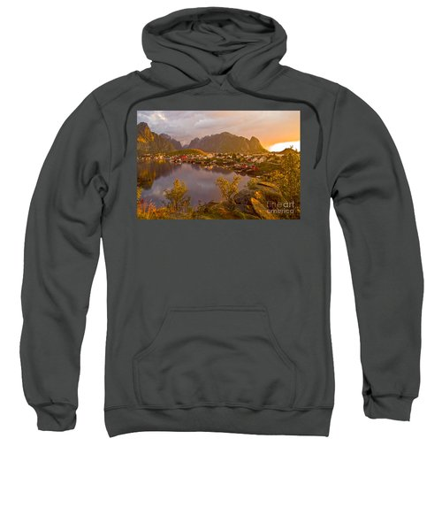 The Day Begins In Reine Sweatshirt