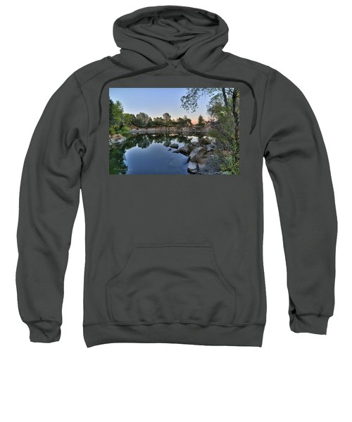 Sweatshirt featuring the photograph The Quinn Quarry by Jim Thompson