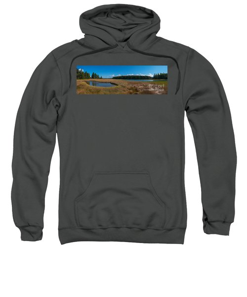 Thompson Island In Maine Panorama Sweatshirt