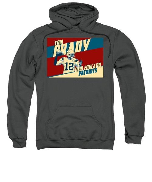 Tom Brady Sweatshirt by Taylan Apukovska
