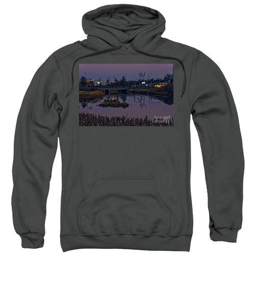 River At Dusk. Sweatshirt