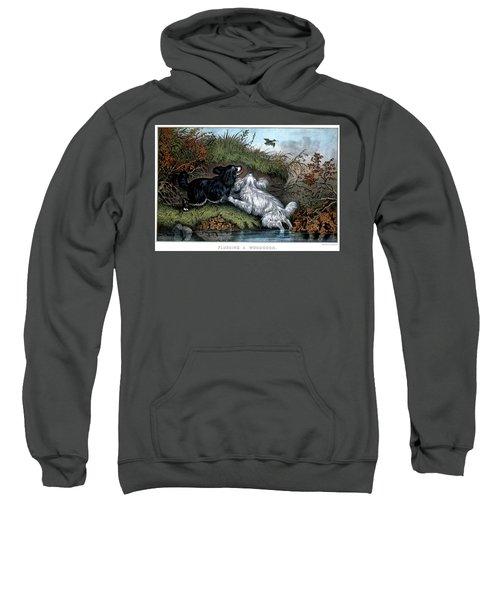 1860s Two Spaniel Dogs Flushing Sweatshirt